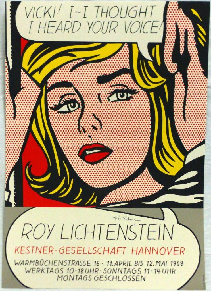 ROY LICHTENSTEIN EXHIBITION POSTER SIGNED - AntiquesModern com