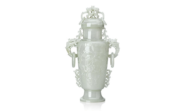 chinese carved jade urn qing dynasty