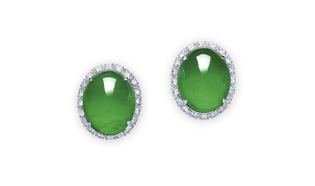 imperial jadeite diamond earrings